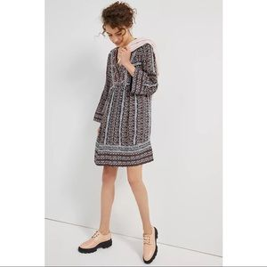 Anthropologie Maeve Naomi Embroidered Tunic Dress